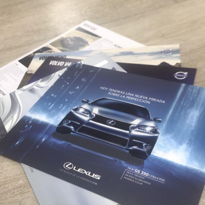 #fichas técnicas para Lexus con Laca UV serigrafico